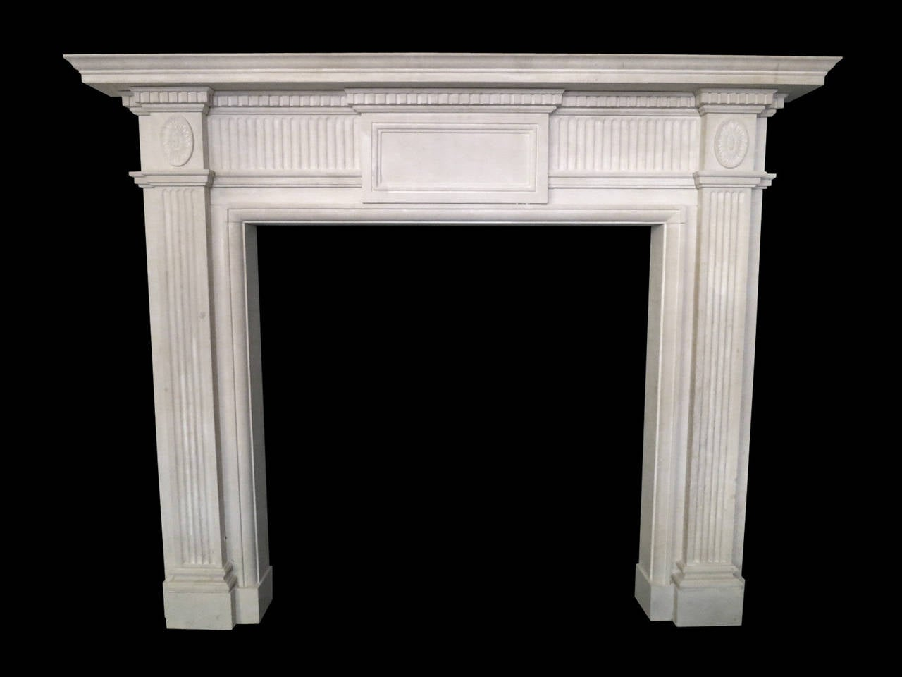 Georgian Style Portland Stone Fireplace Mantel For Sale At 1stdibs
