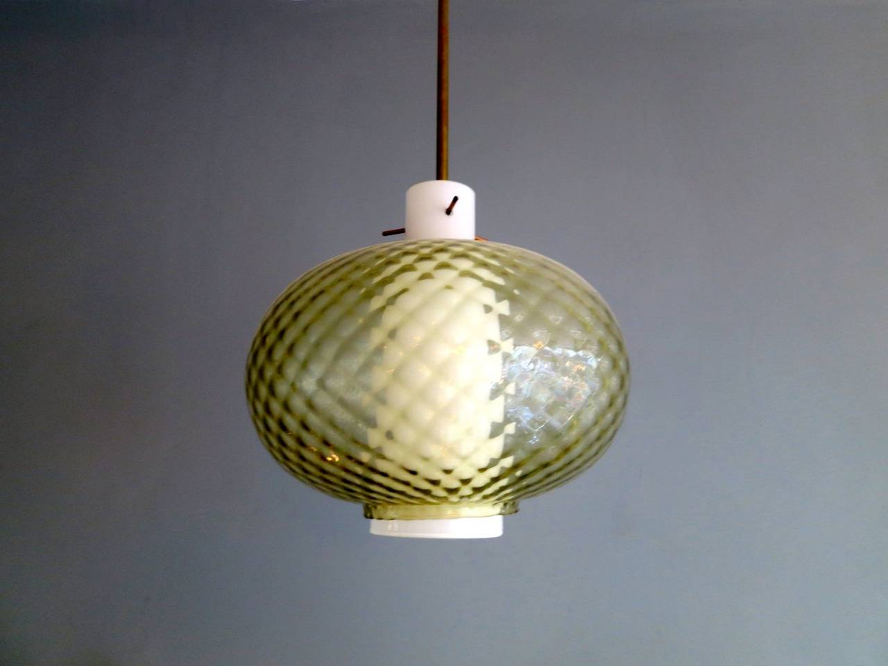 pair of murano glass pendant lights at 1stdibs