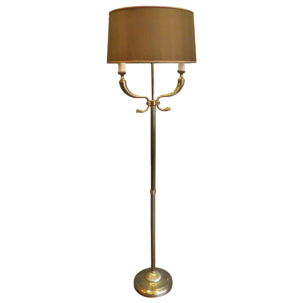 Large 1950s italian brass floor lamp for sale at 1stdibs for 1950 s brass floor lamp