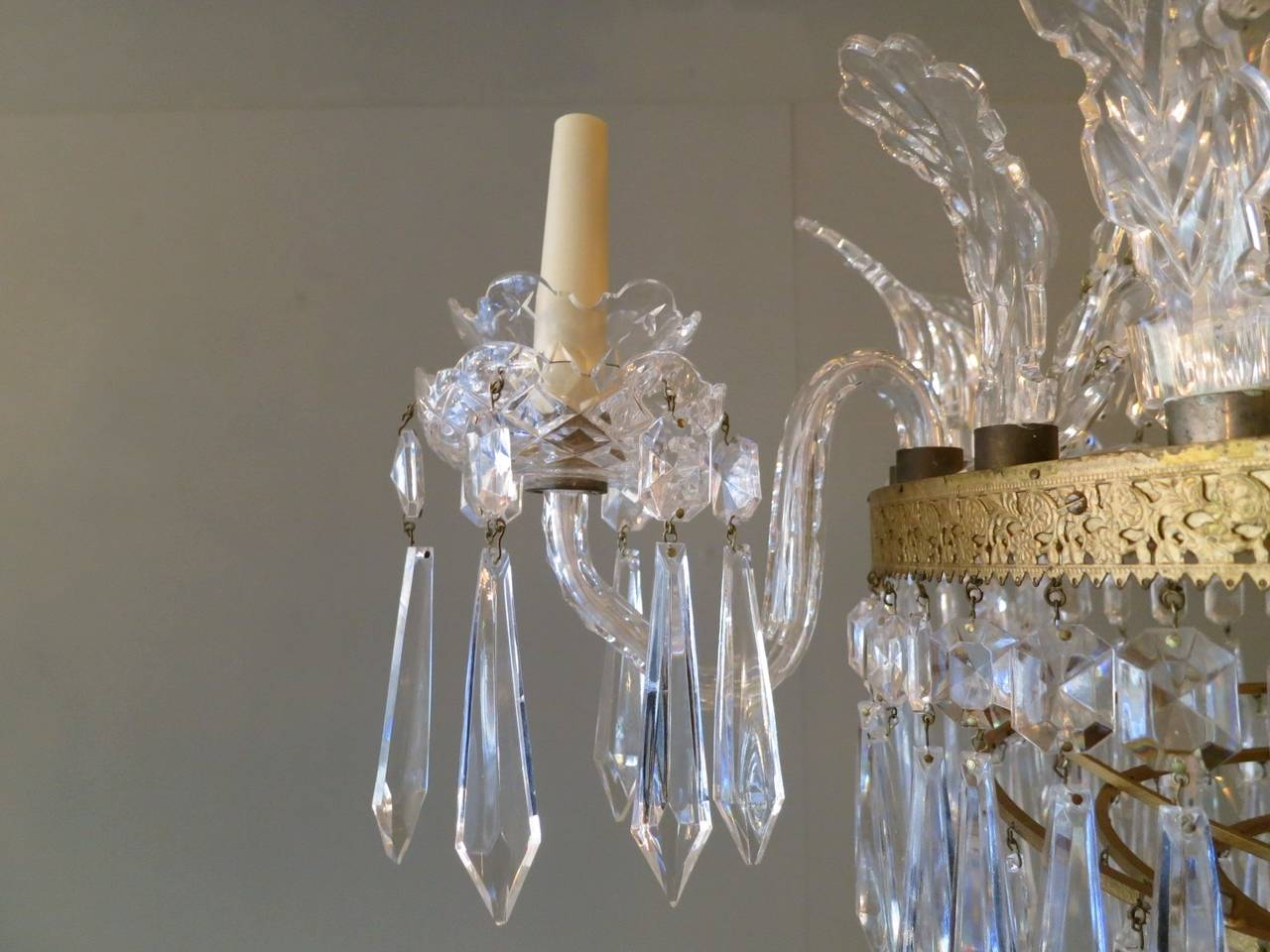 Empire style waterford crystal chandelier at 1stdibs empire style waterford crystal chandelier 2 arubaitofo Gallery