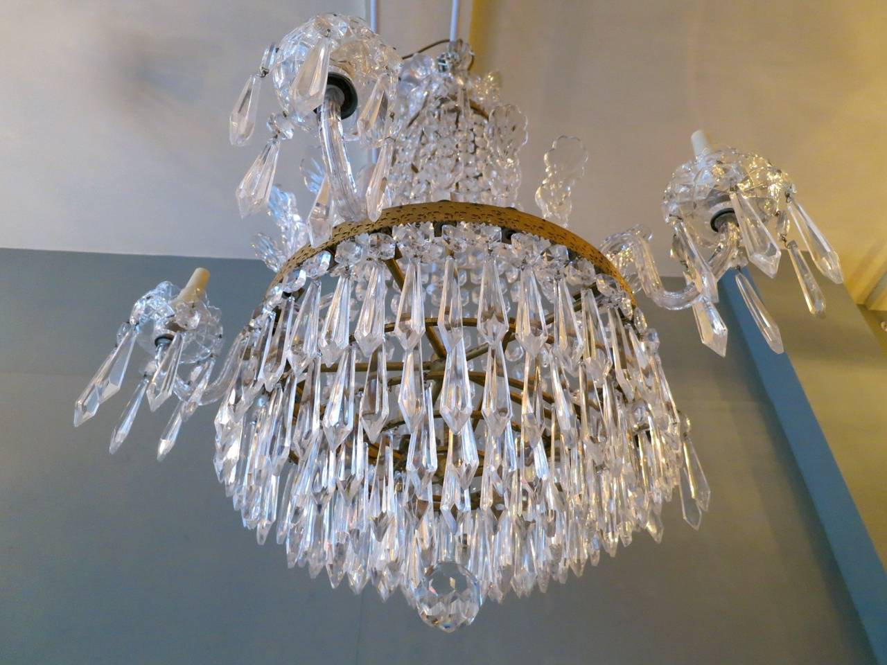 Empire style waterford crystal chandelier at 1stdibs empire style waterford crystal chandelier 3 arubaitofo Gallery