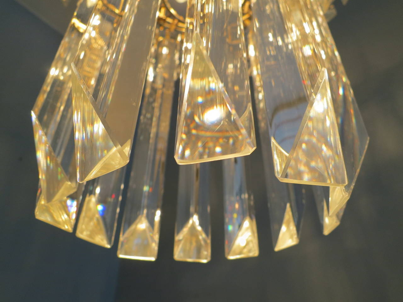 Crystal Italian Murano Chandelier In Good Condition In London, GB