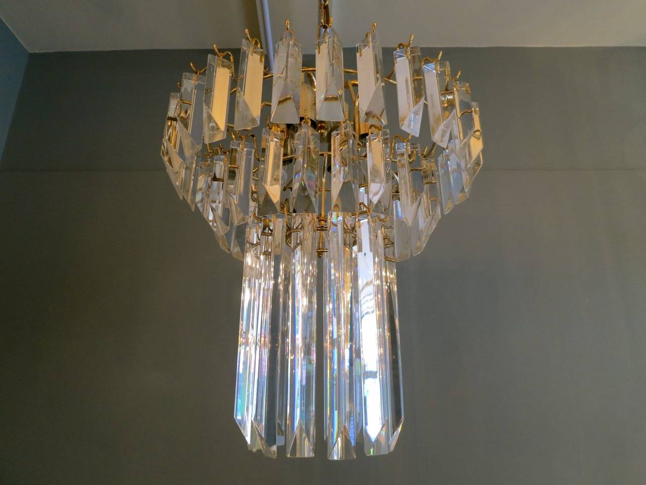 20th Century Crystal Italian Murano Chandelier