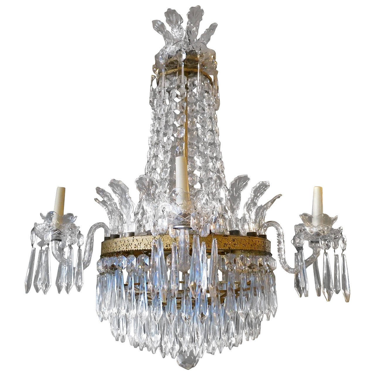 Empire style waterford crystal chandelier at 1stdibs empire style waterford crystal chandelier 1 arubaitofo Image collections