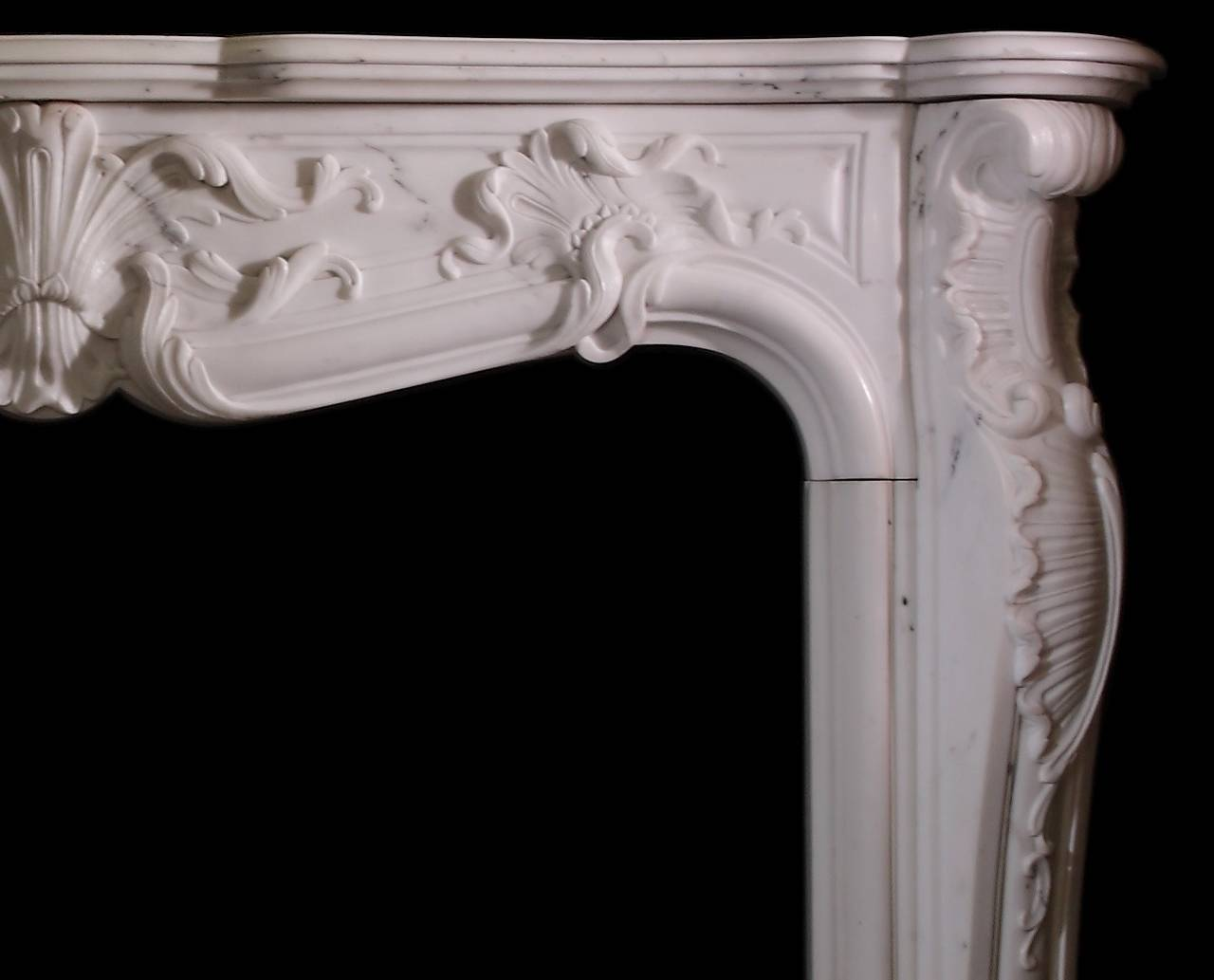 antique rococo statuary white marble louis xv french