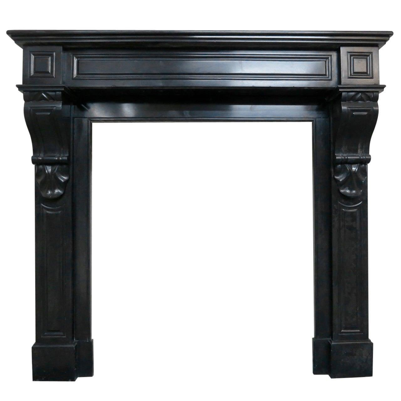 19th Century Louis Xvi Style Belgian Black Marble Fireplace Mantel At 1stdibs