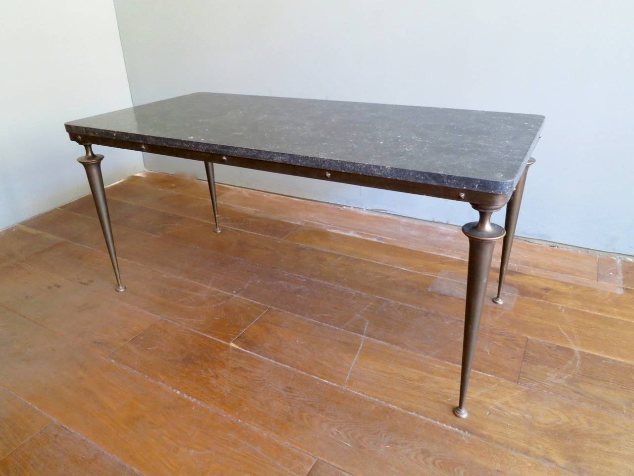 Italian S Bronze And Marble Cocktail Table For Sale At Stdibs - Studded coffee table