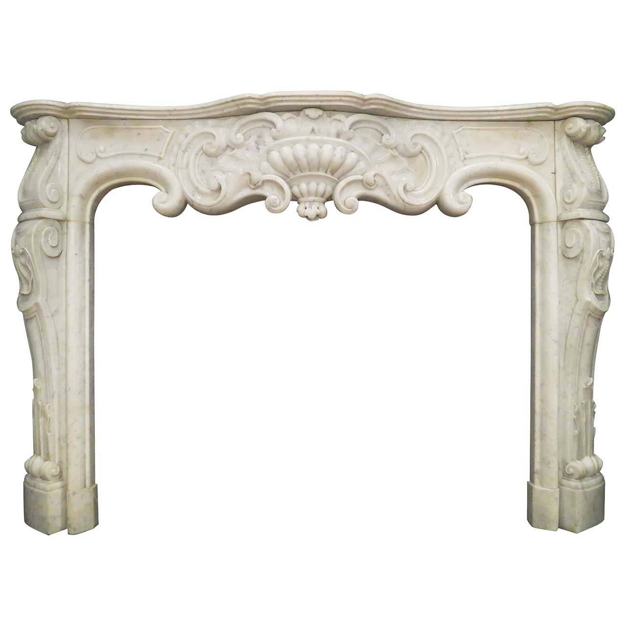 antique marble fireplace mantels. Antique Rococo Louis XV Marble Fireplace Mantel 1 For Sale at 1stdibs