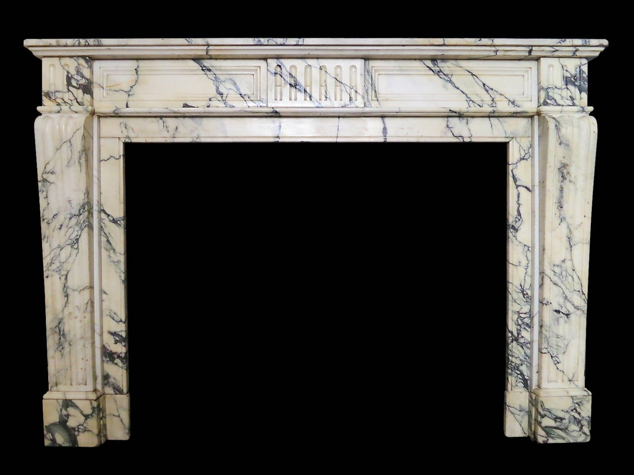 Pair Of Antique Louis Xvi Fireplace Mantels In Pavonazzo Marble At 1stdibs