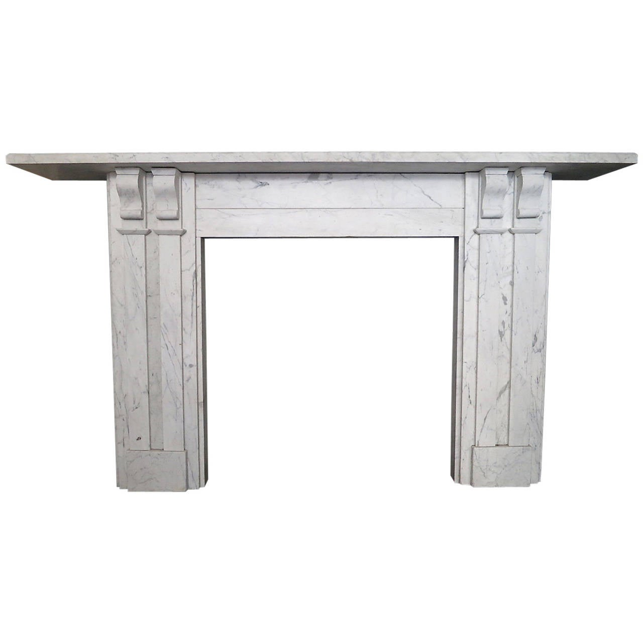 Antique William IV Marble Fireplace Mantel For Sale