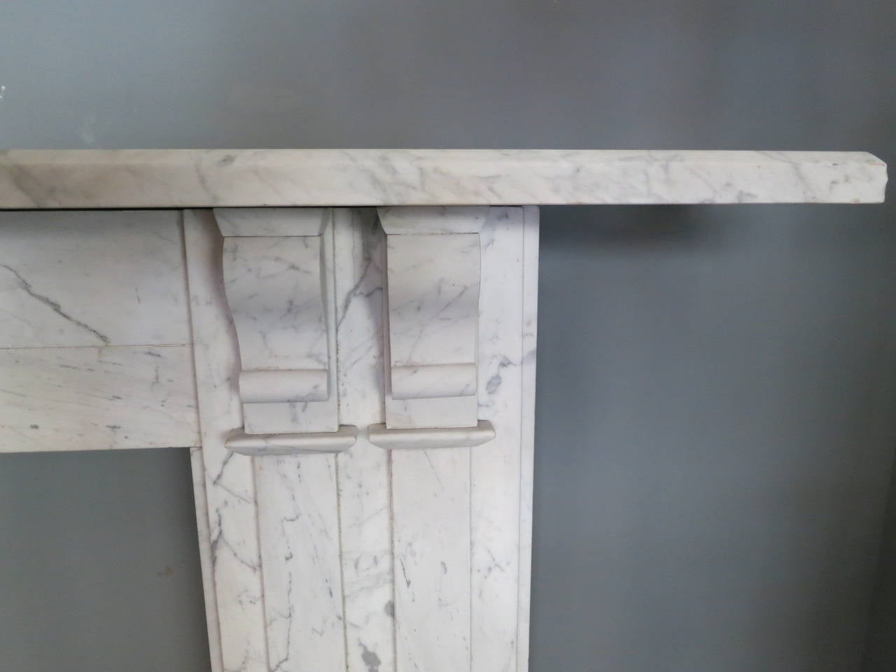 English Antique William IV Marble Fireplace Mantel For Sale