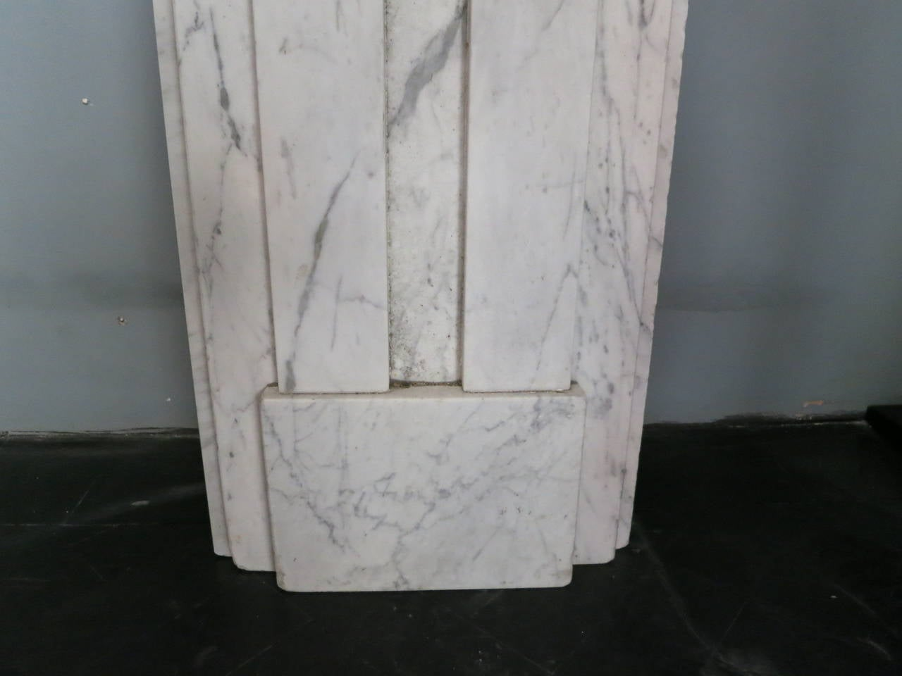 Carved Antique William IV Marble Fireplace Mantel For Sale