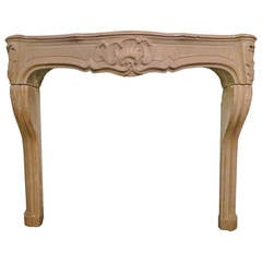 Late 18th Century, French Stone Fireplace Mantel