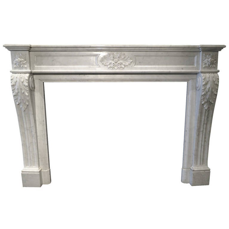 antique louis xvi french marble fireplace mantel at 1stdibs