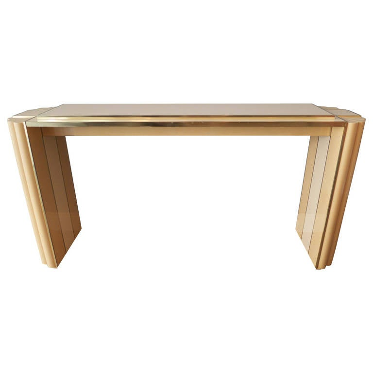 Console table by alain delon for maison jansen at 1stdibs for Alain metral maison