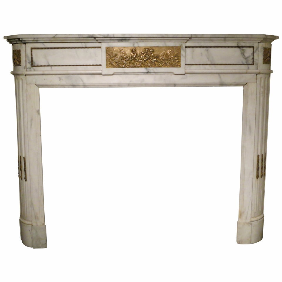 antique french marble fireplace mantel at 1stdibs