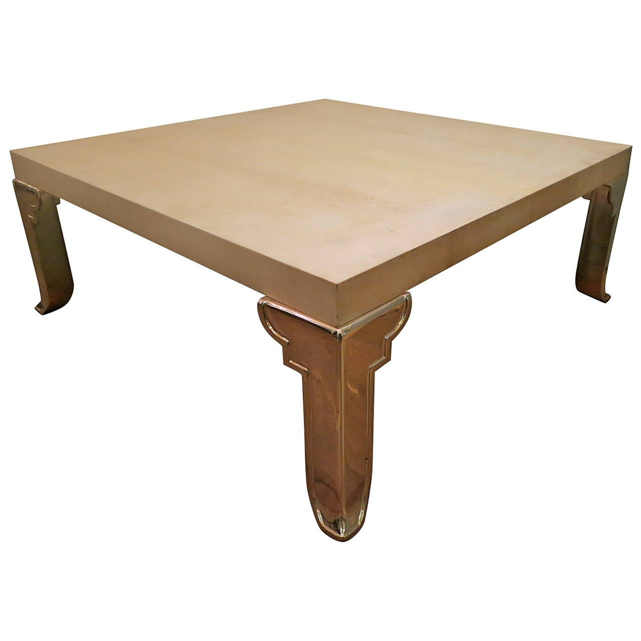 Large Italian Parchment Coffee Table For Sale At 1stdibs