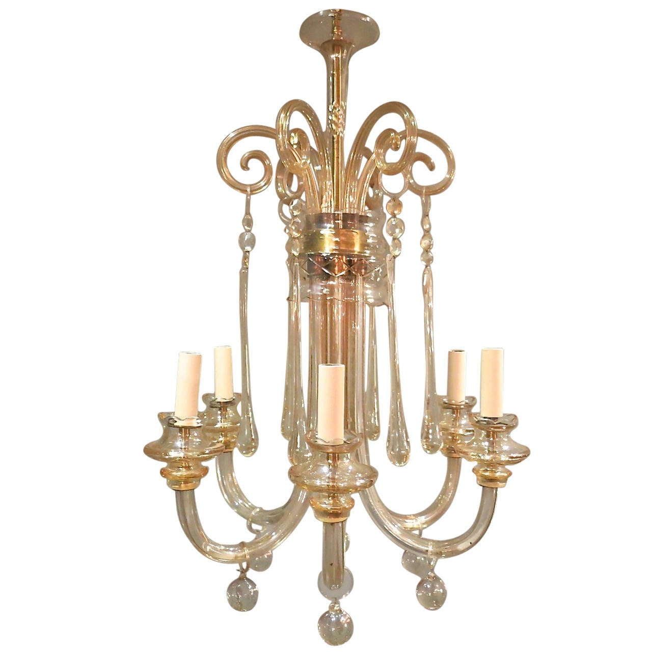 Vintage Italian Murano Chandelier For Sale at 1stdibs
