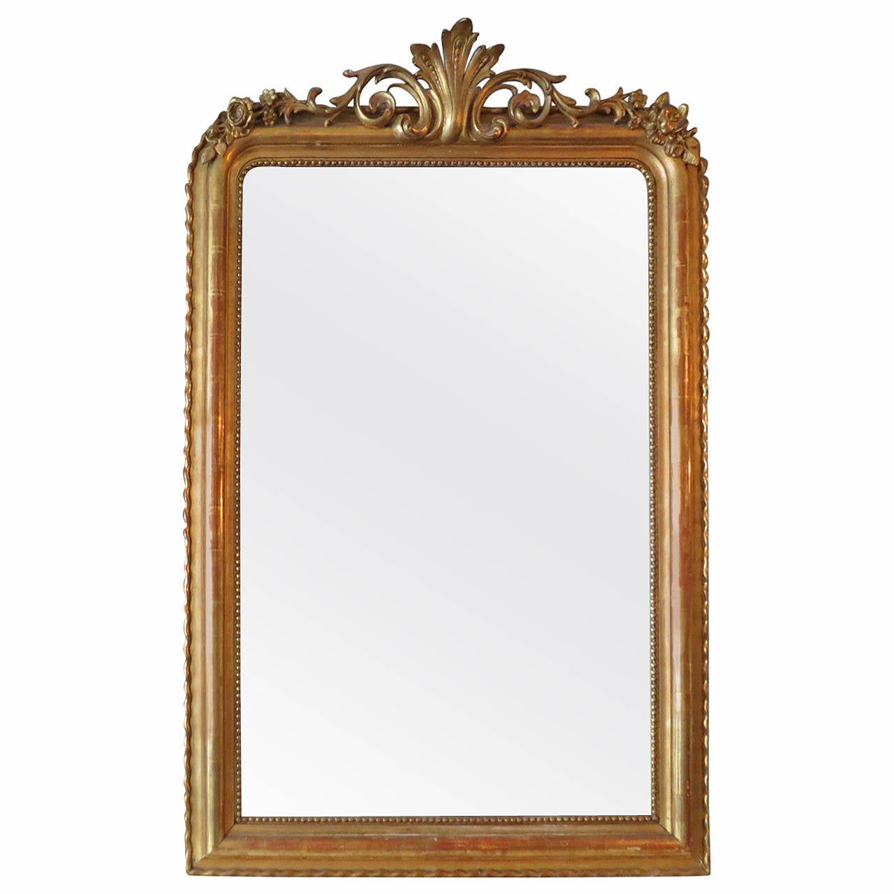 Antique french gold gilt mirror at 1stdibs for French mirror
