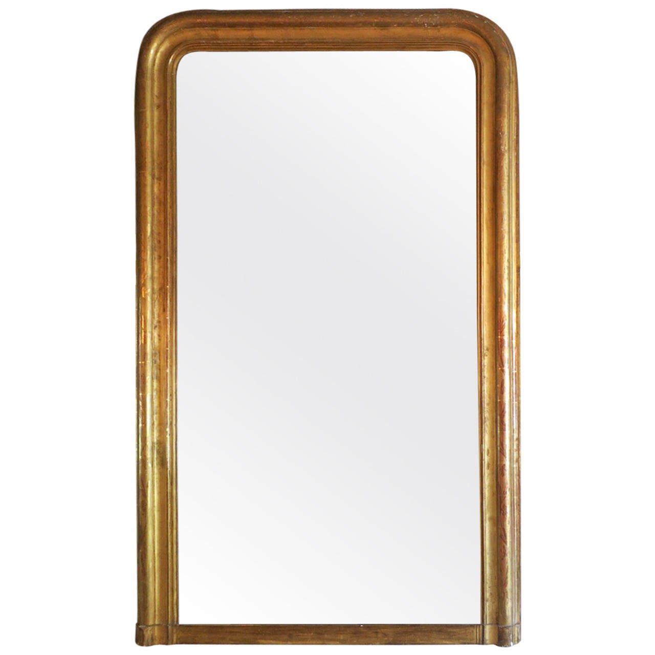 Large gold gilt louis philippe mirror at 1stdibs for Big gold mirror
