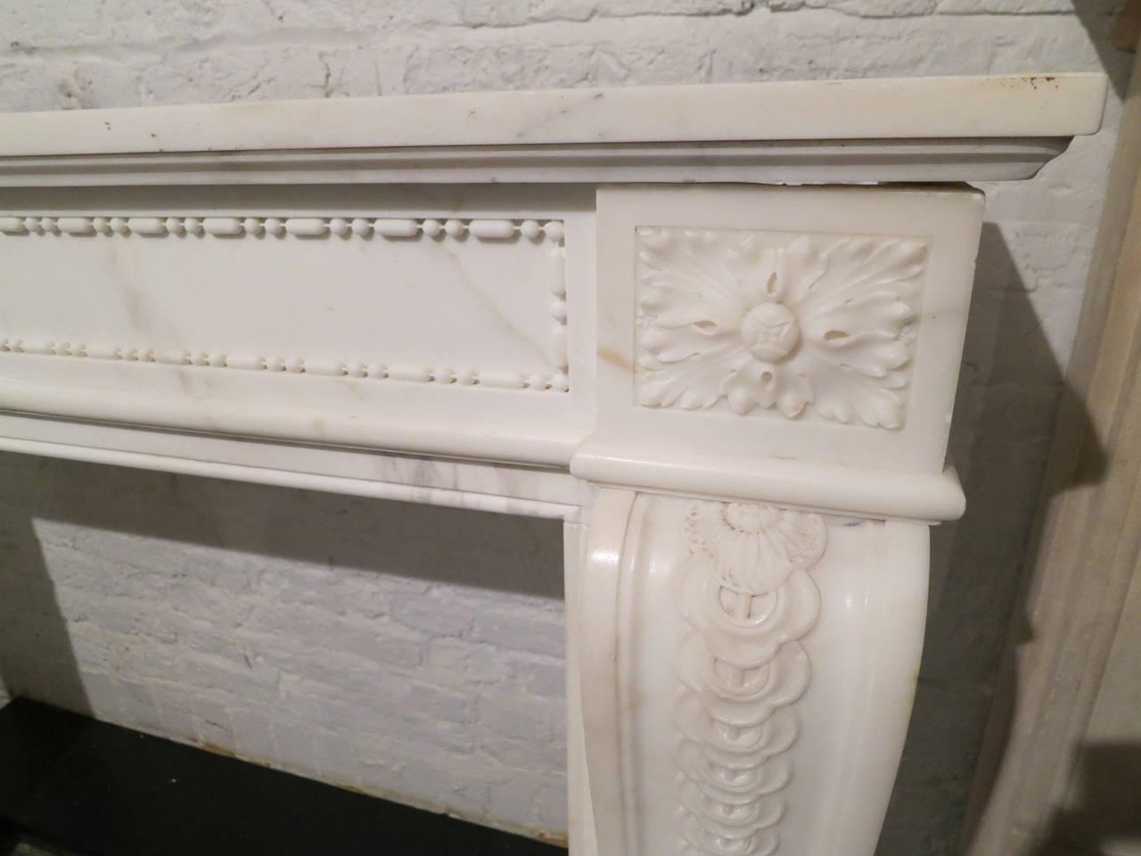 Antique French Louis XVI Style Statuary White Marble