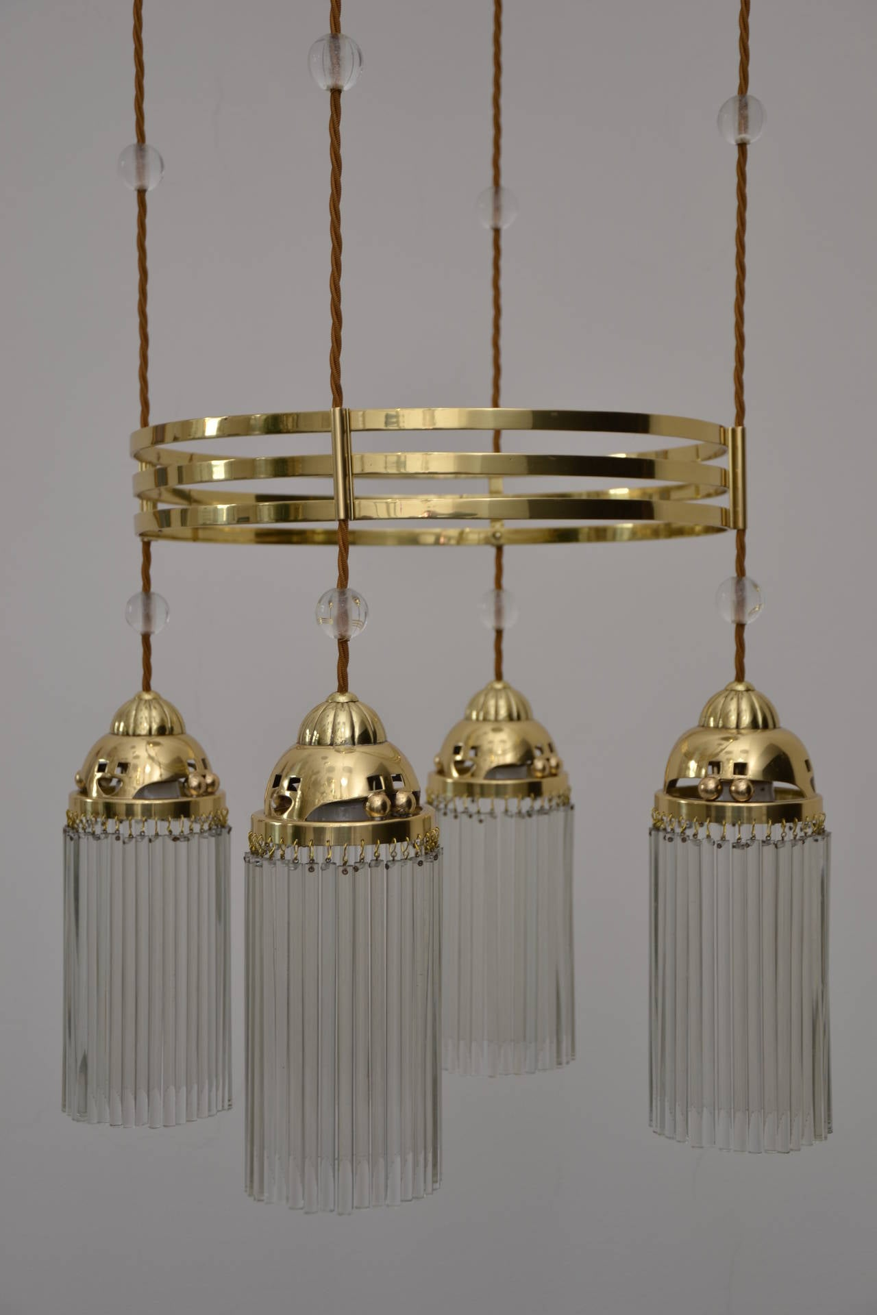 Ceiling Lamp With Original Solid Glass Beads For Sale At