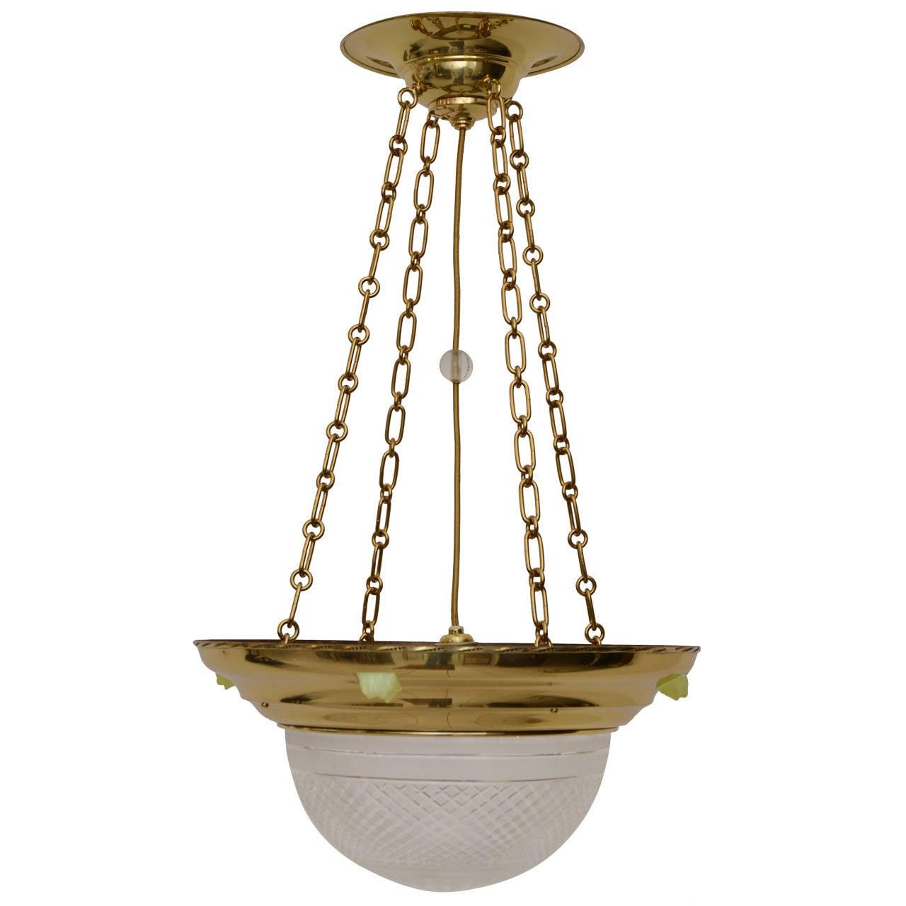 Art Nouveau Ceiling Lamp, circa 1906