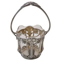 Silver Flower Bowl with Original Glass