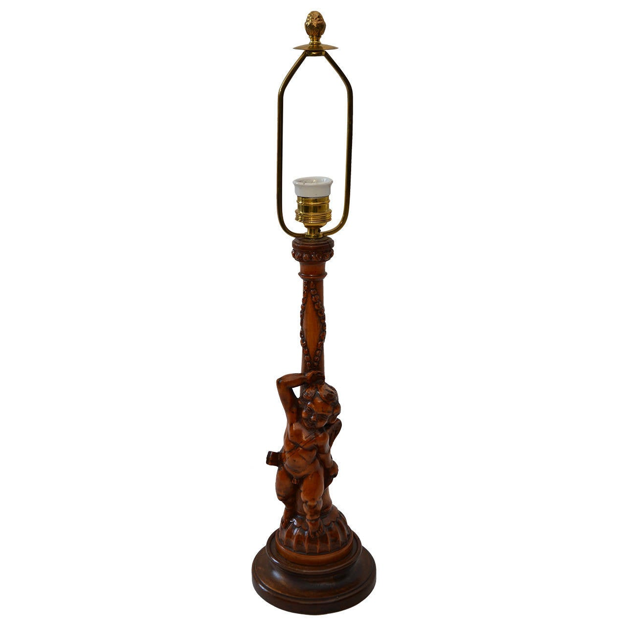 carved wooden table lamp for sale at 1stdibs. Black Bedroom Furniture Sets. Home Design Ideas