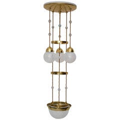 "Koloman Moser Attributed to Bakalowits & Sohne ""Secession"" Chandelier"