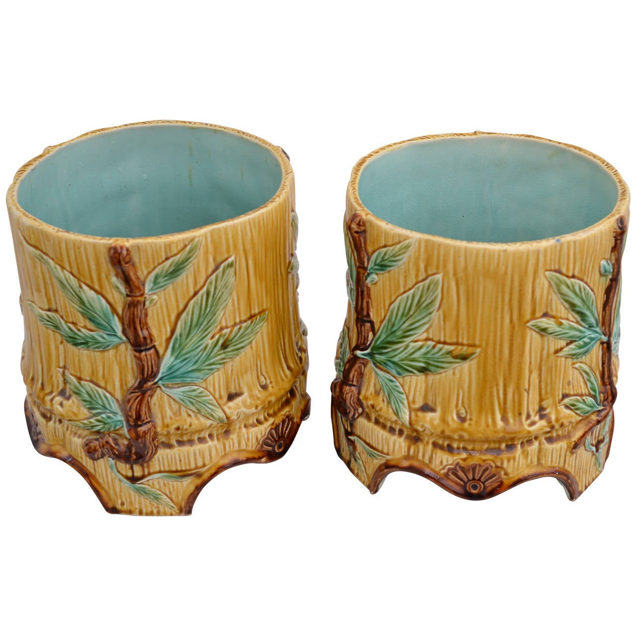 two nice ceramic flower pots for sale at 1stdibs