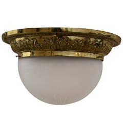 Ceiling Lamp with Cut and Matte Glass Shade
