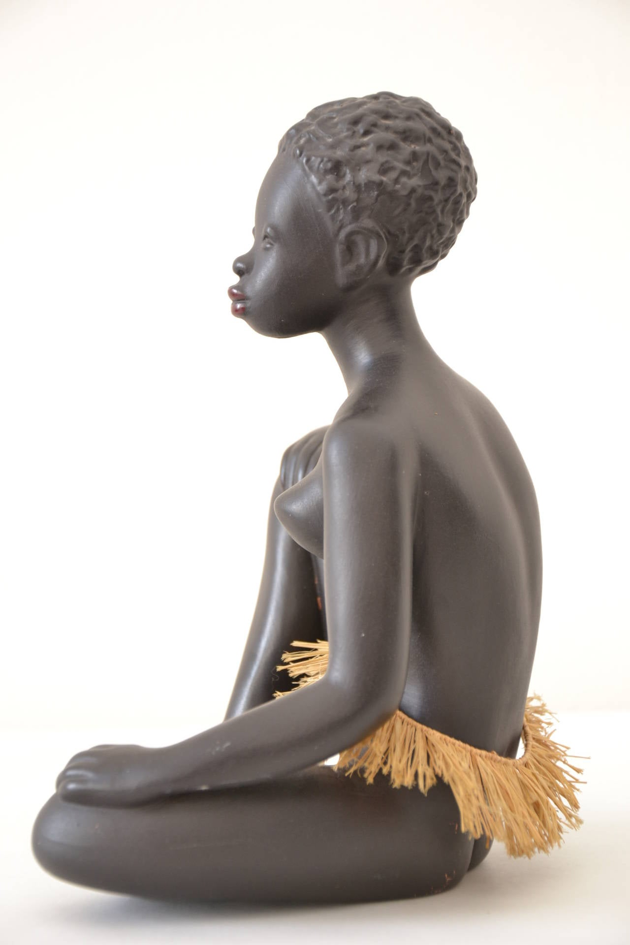 Exotic African Women Sculpture by Leopold Anzengruber, Vienna 1950s 4