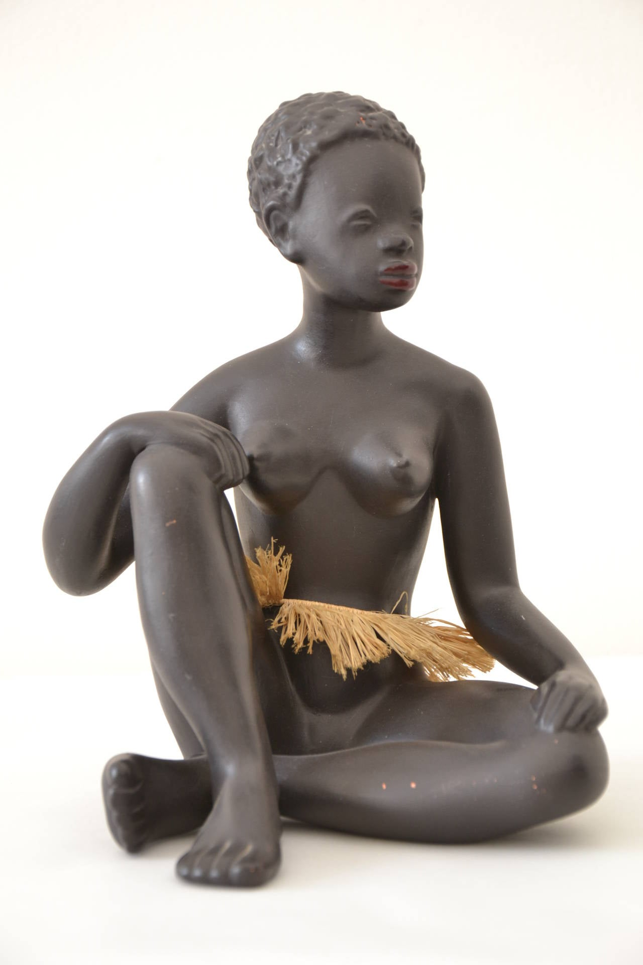 Exotic African Women Sculpture by Leopold Anzengruber, Vienna 1950s 7
