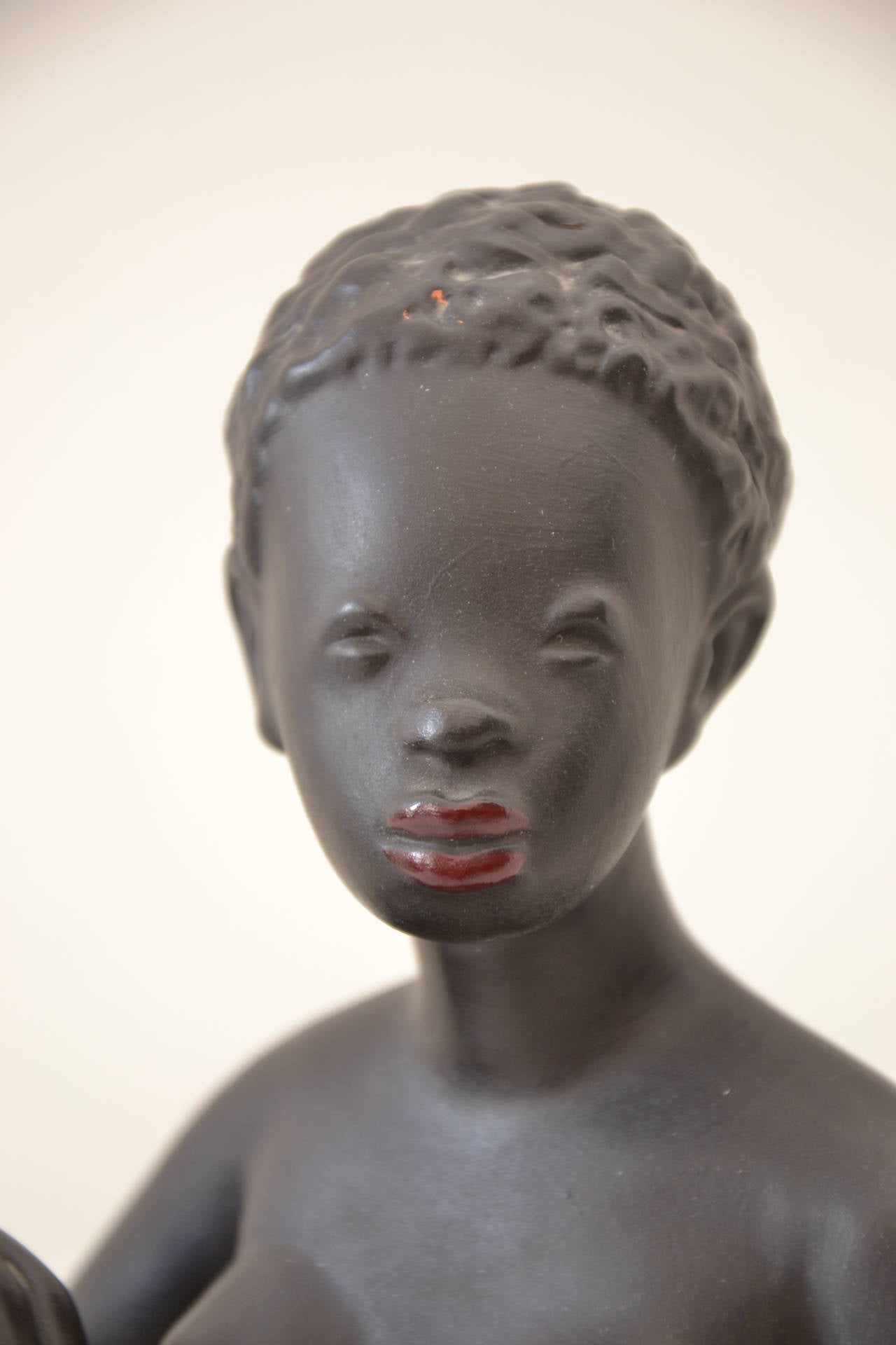 Exotic African Women Sculpture by Leopold Anzengruber, Vienna 1950s 5