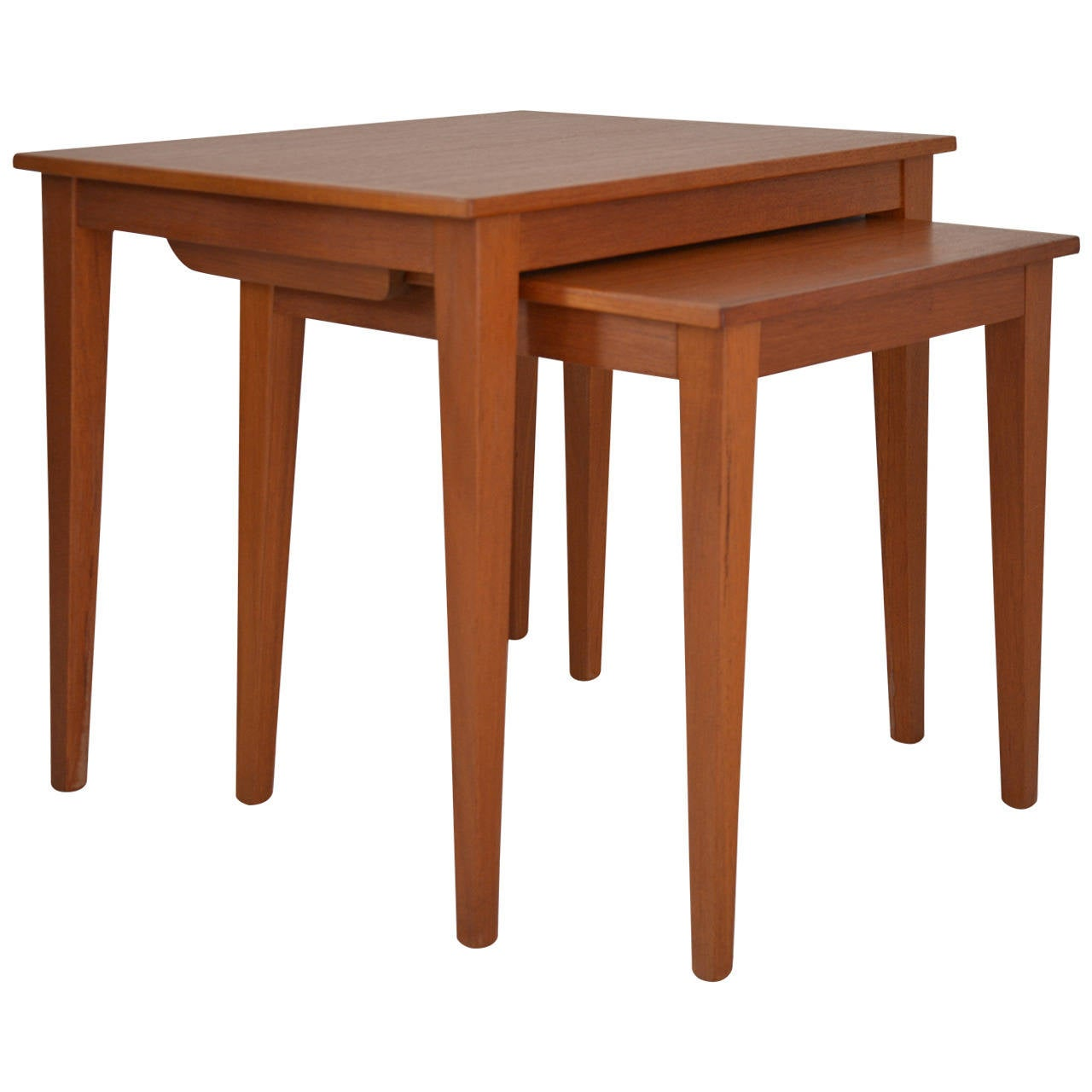 Pair of Nesting Tables 1960 Denmark Teak Wood