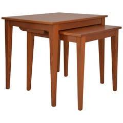 Pair of Nesting Tables 1960 Denmark Teak Wood