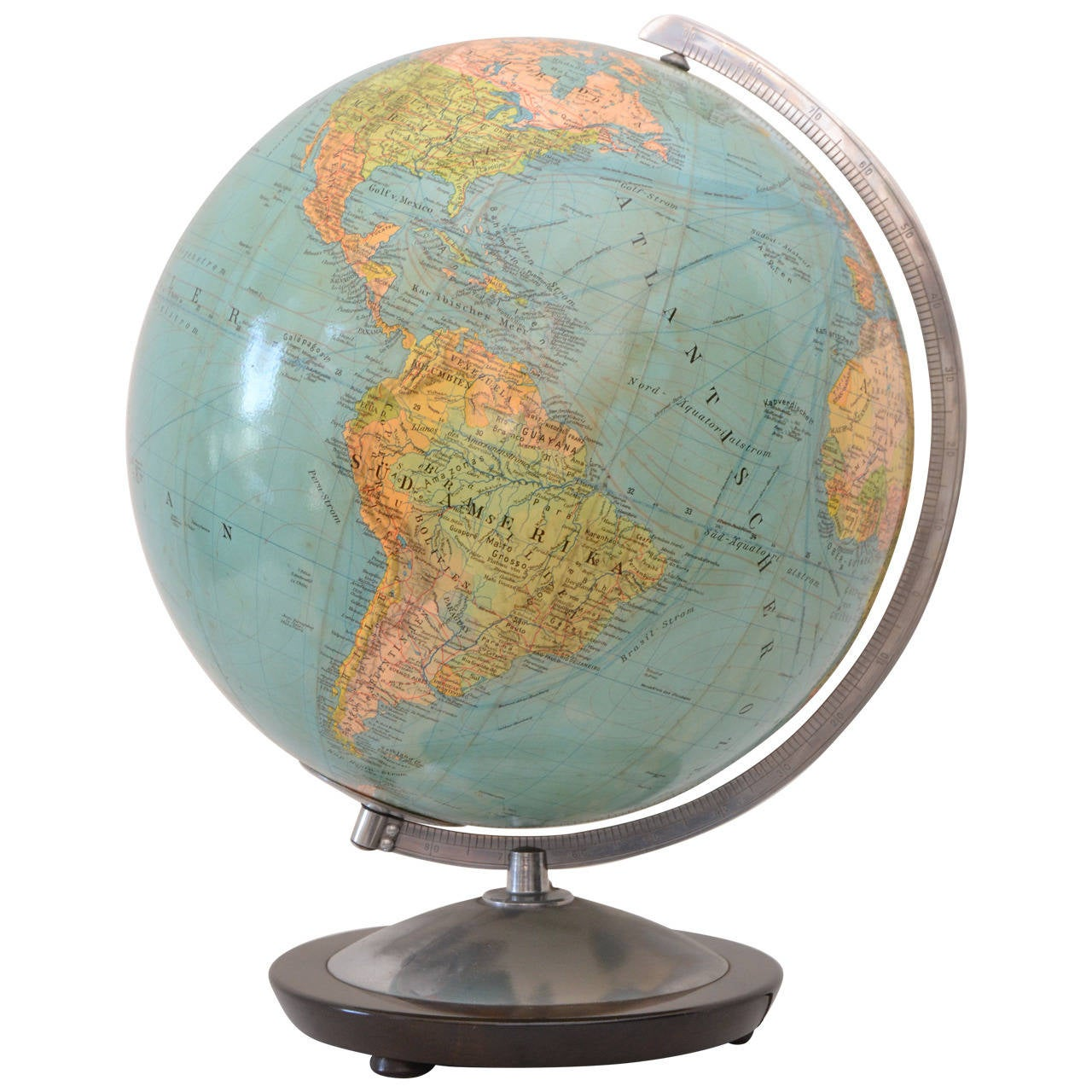 Globe with Nice Warm Glow, made in Germany, 1950s