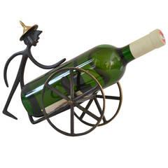 Brass Wine Bottle Holder by Walter Bosse