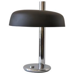 1930s American Modernist Nickel Plated Table Lamp