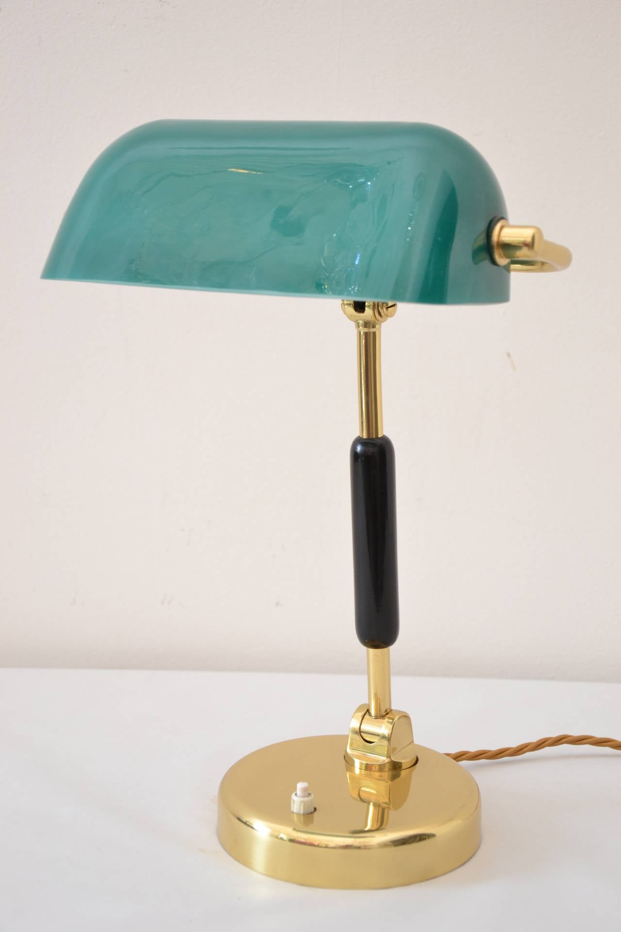 art deco table lamp with green glass is no longer available. Black Bedroom Furniture Sets. Home Design Ideas
