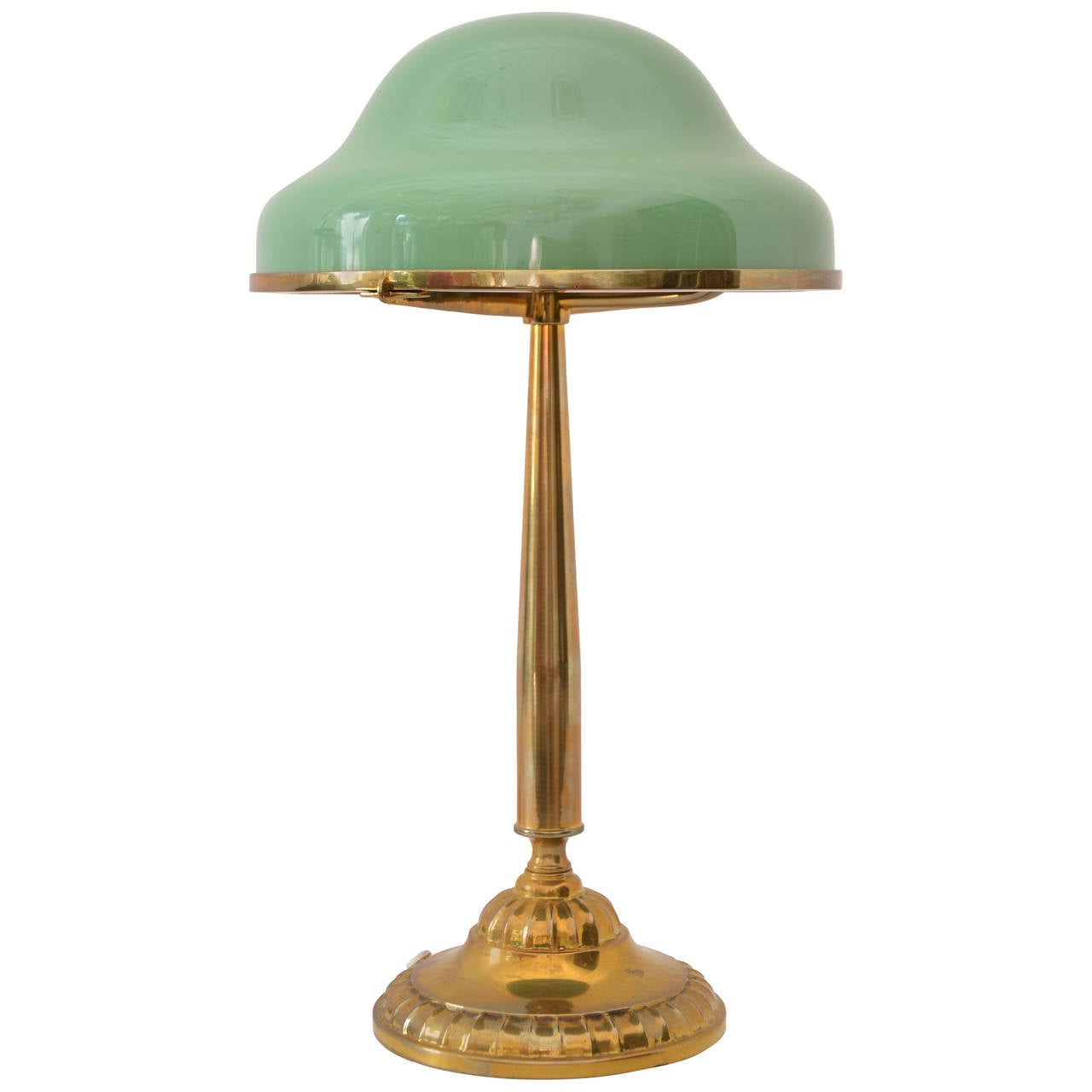 this table lamp with original green glass is no longer available. Black Bedroom Furniture Sets. Home Design Ideas