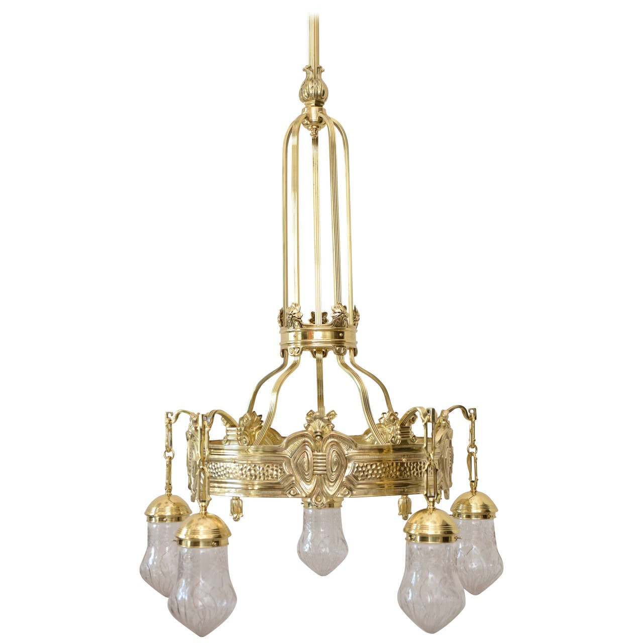Large historistic chandelier circa 1890 for sale at 1stdibs - Circa lighting chandeliers ...