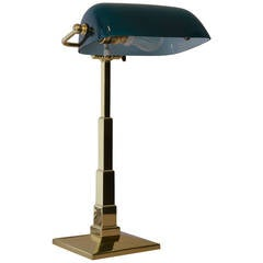 Table Lamp Brass, Polished and Stove Enamelled