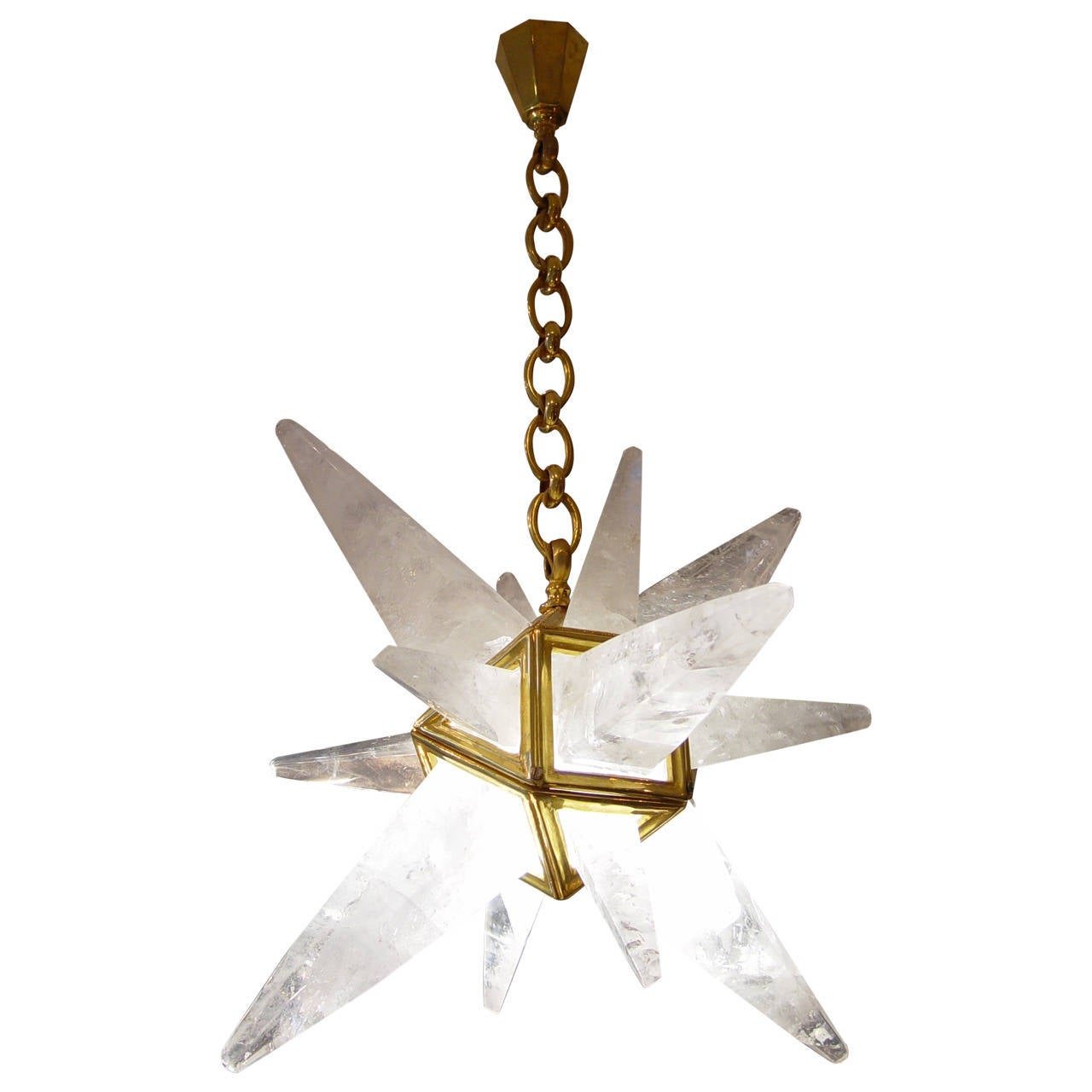 Small Rock Crystal Chandelier At 1stdibs