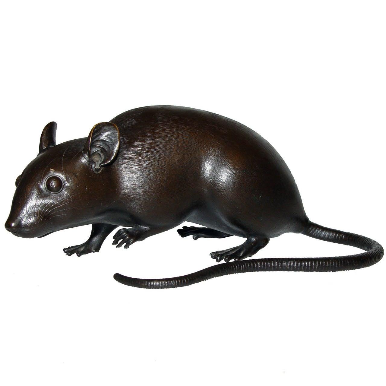 19th Century Japanese Bronze Rat Sculpture At 1stdibs