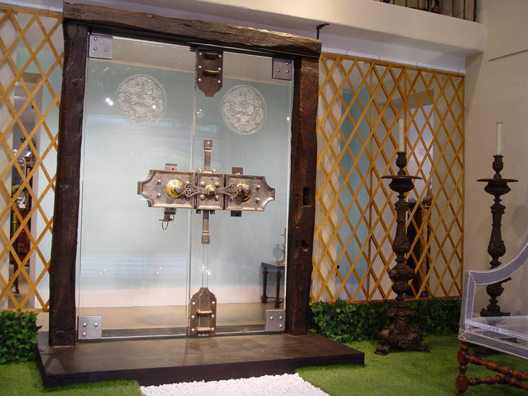 Exceptional Lucite Doors With 18th Century Secret Lock For