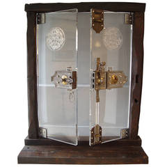 Exceptional Lucite Doors with 18th Century Secret Lock