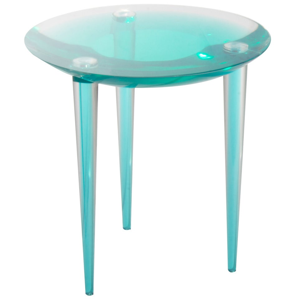 Rare 1960s Italian Pigmented Lucite Side Table At 1stdibs