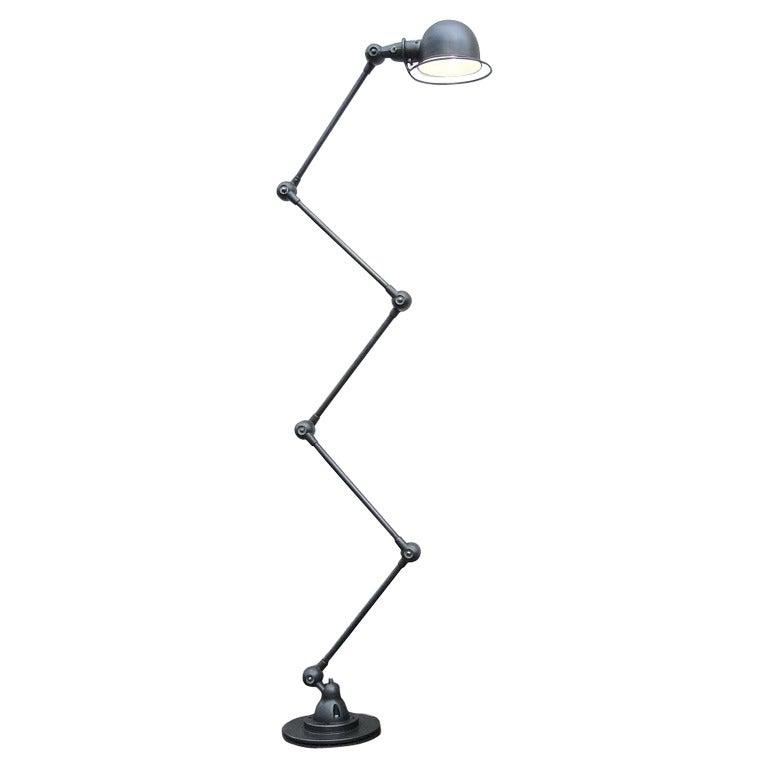 Five-Arm Jielde Floor Desk Reading Lamp in Graphite ...